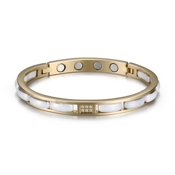 Rainso 2021 Healthy Bracelet Trendy Unisex Bio Energy Ceramics Gnet Negative Ions Germanium Bracelets Jewelry Sister Gift 2