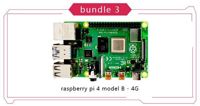New Original Official Raspberry Pi 4 Model B RAM 2G4G8G 4 Core 1.5Ghz 4K Micro HDMI Pi4B 3 Speed than Raspberr Pi 3B+