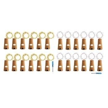 Cork Lights for Wine Bottle, Bottle 12 Pack 6.5ft 20 LED String Glass Mason Jar Fairy Ba