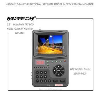 "NKTECH HD Digital Satellite TV Signal Finder NK-610 CCTV Camera Monitor Tester Analog Cameras Video Audio Test 1080P 3.5\"" TFT"
