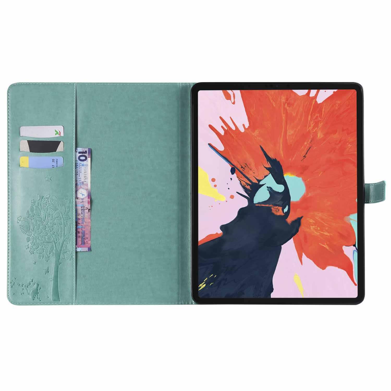 2019 Nova Árvore Bonito e gato Caso Tablet Para Samsung t560 9 polegada Carteira Bolsa Tampa do Suporte Da Aleta