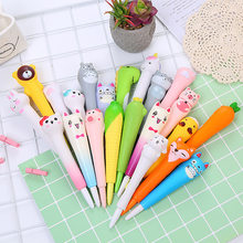 Stylos Gel animaux 0.5mm nouveauté mignon stylos mignon papeterie dinosaure Gel stylo licorne Kawaii stylo papeterie Kawaii fournitures scolaires(China)