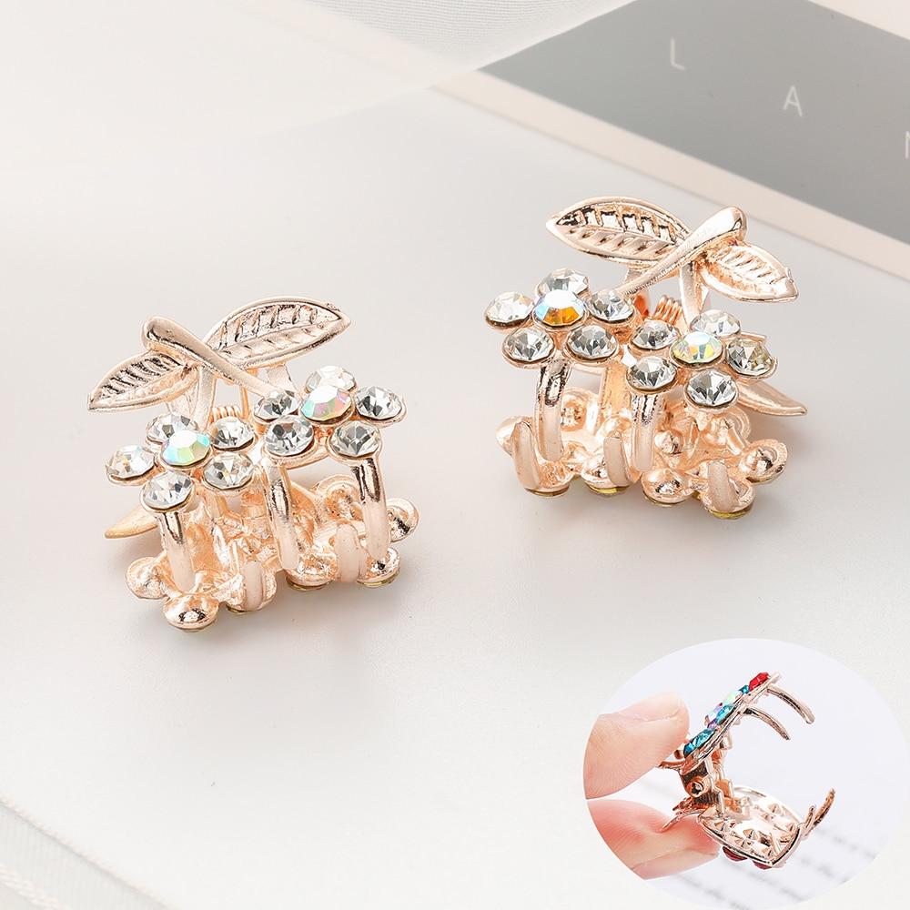 WYBU Hair Accessoires Shiny Rhinestone Dot Hair Claws Gift For Women Leaf Cherry Hairpins Color Hair Clip Girl Headwear Jewelry