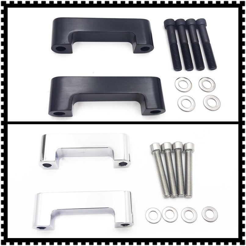 Black Front Fender Spacer Brackets Kit Fit for 23 26 Harley Davidson 96-13 Touring Road King//FLTR//07-13 FLHX
