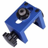 Bit Carpentry Woodworking Tool Guide Hole Drilling Locator Jig Kit Positioner Dowel