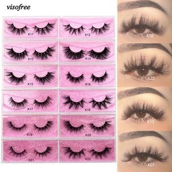 Visofree 5D Mink Eyelashes Long Lasting Mink Lashes Natural Dramatic Volume Eyelashes Extension Thick Long 3D False Eyelashes
