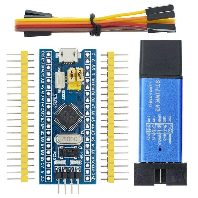 STM32F103C8T6 ARM STM32 تطوير نظام الحد الأدنى لوحة تركيبية لاردوينو ST Link V2 Stlink V2 Mini STM8 محاكي تحميل