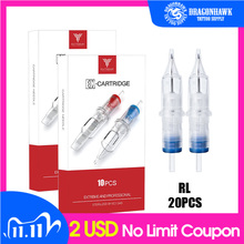 Box Of 20pcs RL Disposable Sterile Tattoo Cartridge Needles For Tattoo Rotary Pen Round Liner Shader Supplies kk20