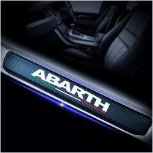 Para fiat viagem abarth punto 124 125 500, estilizador de carro 4 peças, fibra de carbono, anti arranhão, pedal adesivo, decoração capa protetora