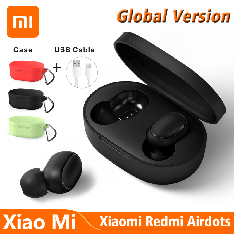 Xiaomi Air Dots Wireless Bluetooth Earphone Original Xiaomi Earphone Support Xiao Ai Air Dots Bluetooth Earphone Redmi Earphones