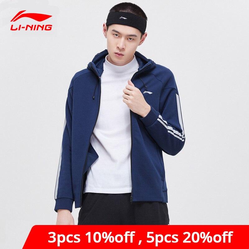 Li-Ning Men Training Hoodie Regular Fit 63% Polyester 37% Cotton Comfort LiNing Li Ning Fitness Sports Sweater AWDP157 MWW1576