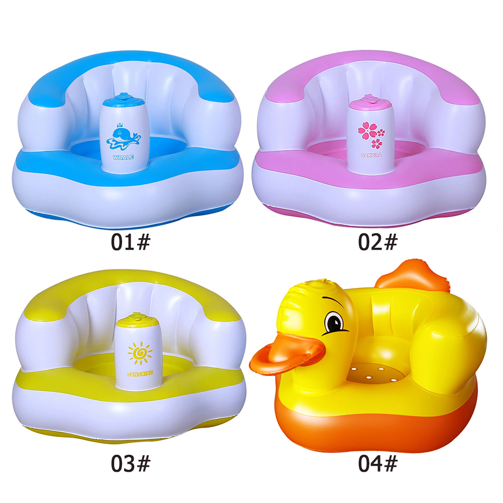Multifunctional Cartoon Baby Inflatable Sofa PVC Portable Children Cute Learning To Sit Seat Stool Kids Home Indoor Leisure Toy