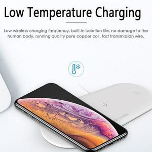 Image 4 - 3 In 1 휴대용 무선 충전기 아이폰 11 프로 삼성 S8 빠른 무선 충전 패드 애플 시계 IWatch 4 3 2 1 Airpods
