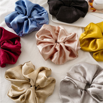 Oversized Hair Scrunchies For Women Solid Satin Silk Scrunchie Hair Rubber Bands Elastic Hair Ties Accessories Ponytail Holder bowknot floral hair scrunchies rope women ponytail holder bows elastic hair bands crunchy hair ties scrunchie hair accessories