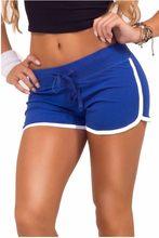 Letnie spodenki rekreacyjne damskie kontrastowe wiązanie boczne rozcięcie w pasie luźne wygodne szorty yo-ga Short Feminino
