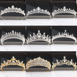 Silver Color Crown and Tiara Hair Accessories For Women Wedding Accessories Crown For Bridal Crystal Rhinestone Diadema Tiara