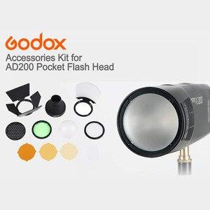 Image 2 - מגנטי עגול ראש פלאש AK R1 אבזר סט ערכת Godox AK R1 ערכת מיני צילום החלפת חלקי Godox H200R v1