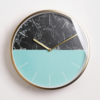 Modern Design Luxury Wall Clock Nordic Simple Rose Gold Creative Wall Watches Bedroom Living Room Duvar Saati Home Decor ZB5WC