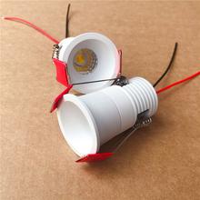 5W przyciemniane światło Led szafka wpuszczana MINI światło punktowe 220V-240V lampa sufitowa Mini LED typu downlight Driverless LED żarówka tanie tanio SNYKA CN (pochodzenie) 110-240 v 5 yesrs 5W 7W Aluminium Foyer