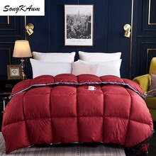 SongKAum 95 % White Goose/Duck Down Quilt Duvets five star hotel Three-dimensional Comforters 100% Cotton Cover King Size