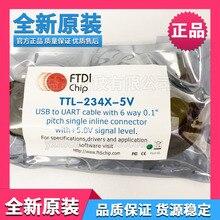 цена на FTDI original TTL-234X-5V USB-to-TTL data cable 5v serial/line converter UART cable
