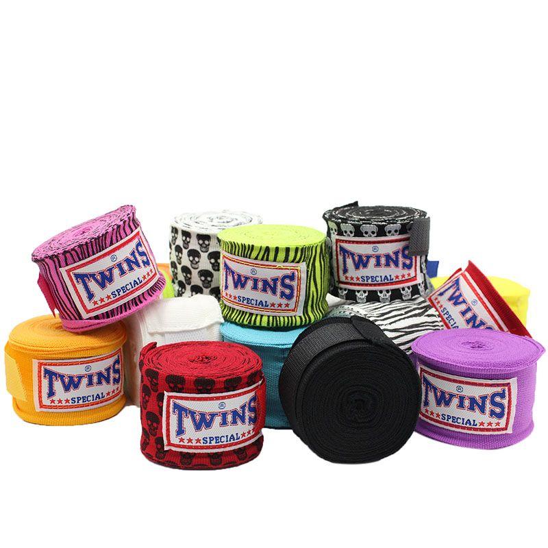 TWINS 2pcs/pack 5M length 5cm width Boxing Hand Wraps MMA Muay Thai Kick Boxing Handwraps for Training Bandages F