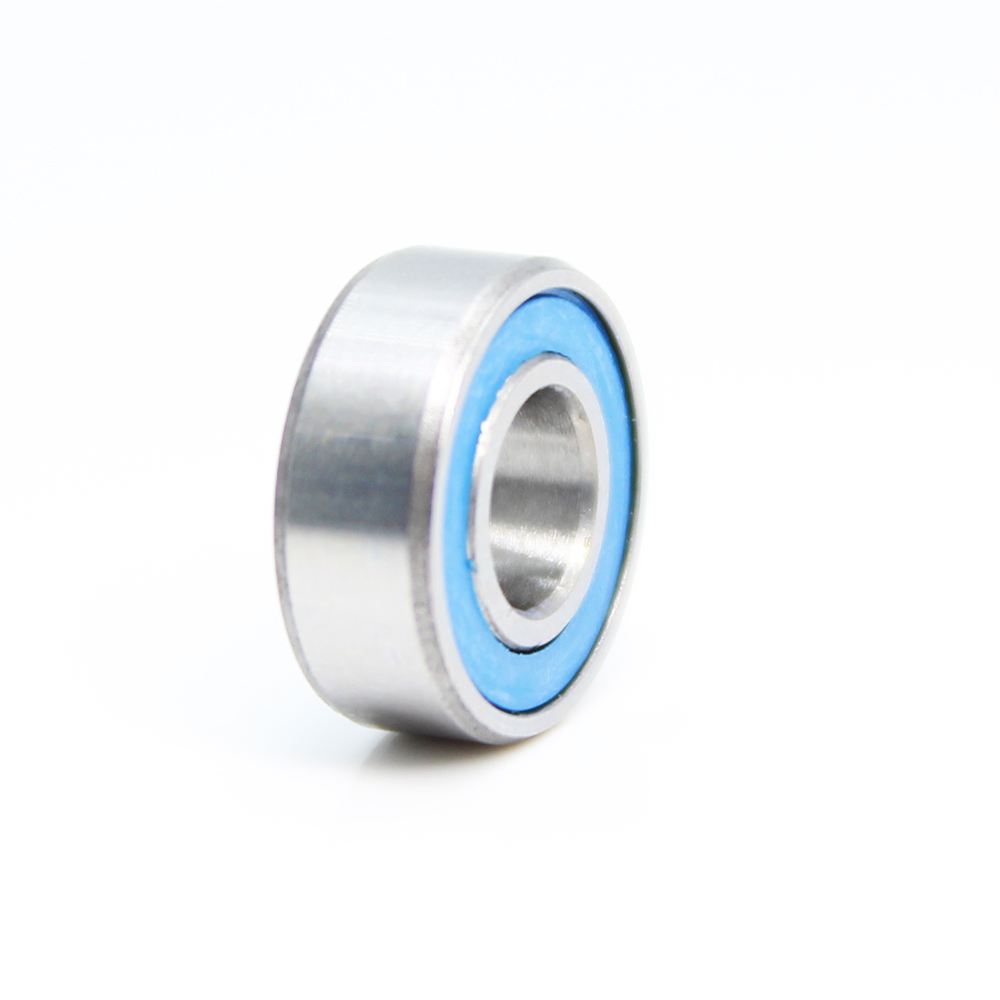 4 PCS MR115RS 5x11x4 mm Black Metal Rubber Sealed Ball Bearing MR115-2RS
