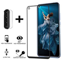 2 in 1 Protective Glass For Huawei Honor 20 Pro View20 Camera Screen Protector Protective Glass Honor View 20 Pro YAL-AL10 Film(China)