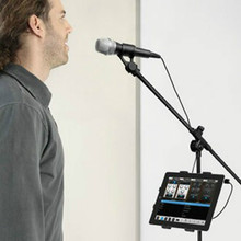 Soporte para tableta y teléfono para soporte de micrófono soporte de plástico ABC para Apple Ipad para Iphone 4,5 10,5 ereader asiento trasero de coche