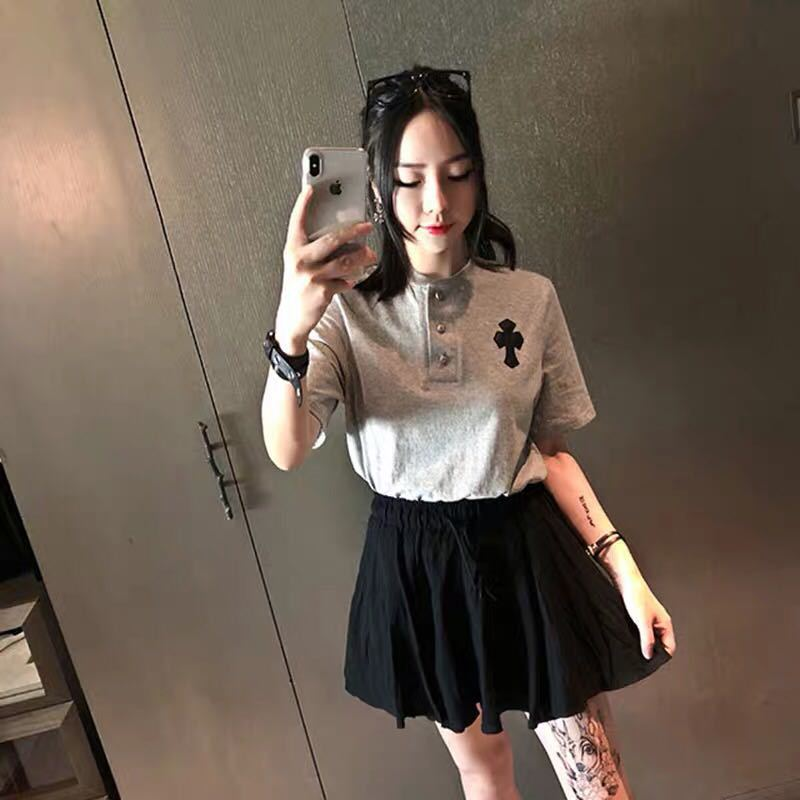 Short Sleeve T-shirt Tops + Short Skirt Elegant Short-height Students Very Xian Yang Gas Royal Sister Two Pieces Dress Outfit Ch