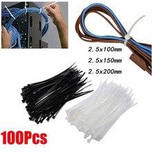 Tie-Strap Plastic Nylon with Spray Black And White Self-Locking