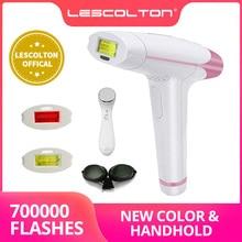 Nova lescolton ipl depilação a laser 1300000 pulsos 4in1 depilador máquina para homens worpermanent biquíni aparador elétrico depilador