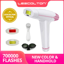 Yeni Lescolton IPL lazer epilasyon 1300000 bakliyat 4in1 epilatör makinesi erkekler için worPermanent Bikini düzeltici elektrik depilador