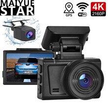 Dash cam 4K 3840*2160P video registrati Hisilicon3559 auto DVR GPS Wifi della macchina fotografica Sony IMX415 sensore magnetico staffa registratore di guida