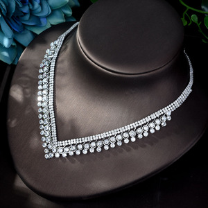 Image 5 - HIBRIDE Shinning Pave CZ Dubai Jewelry Sets 2020 Women Wedding Zirconia Leaf Design Copper 4pcs Jewelry Set collier mariag N 896