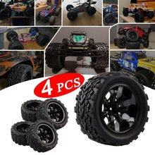 Hoge Kwaliteit Band Velg Grote Truck Off-Road Autobanden Set Voor Hpi Hsp Traxxas 1:10 Rc Monster bigfoot Auto Buggy Tire 2019 Hot(China)