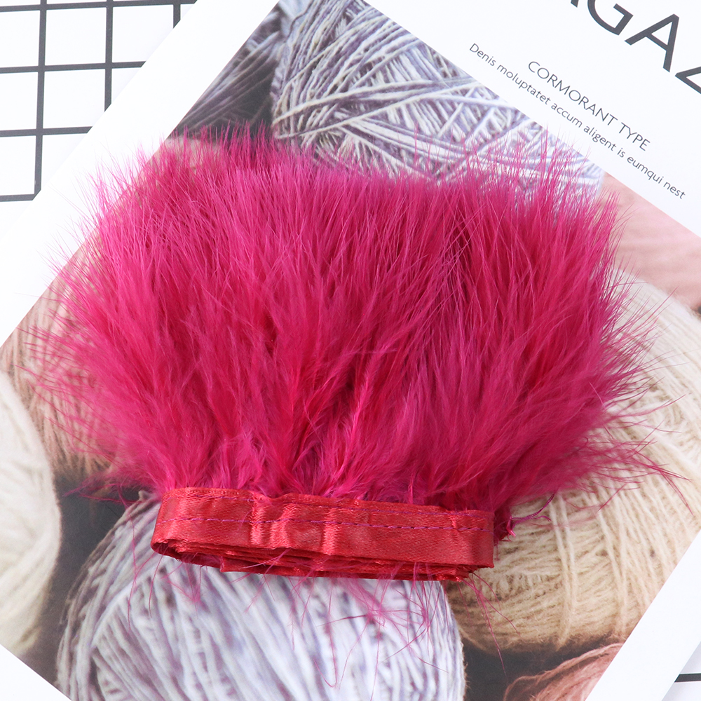 1 Meter Dyed Colorful Marabou Feathers Trim Fringe Clothing Sewing Decoration 8-10CM Soft Feather Ribbon Crafts Plume Wholesale