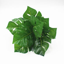 Simulated green plant potted decorative wall materials glued handle leaves 9 turtles back