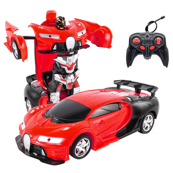 26 Styles RC Car Transformation Robots Sports Vehicle Model Robots Toys Remote Cool RC Deformation Cars Kids Toys Gifts For Boys 2