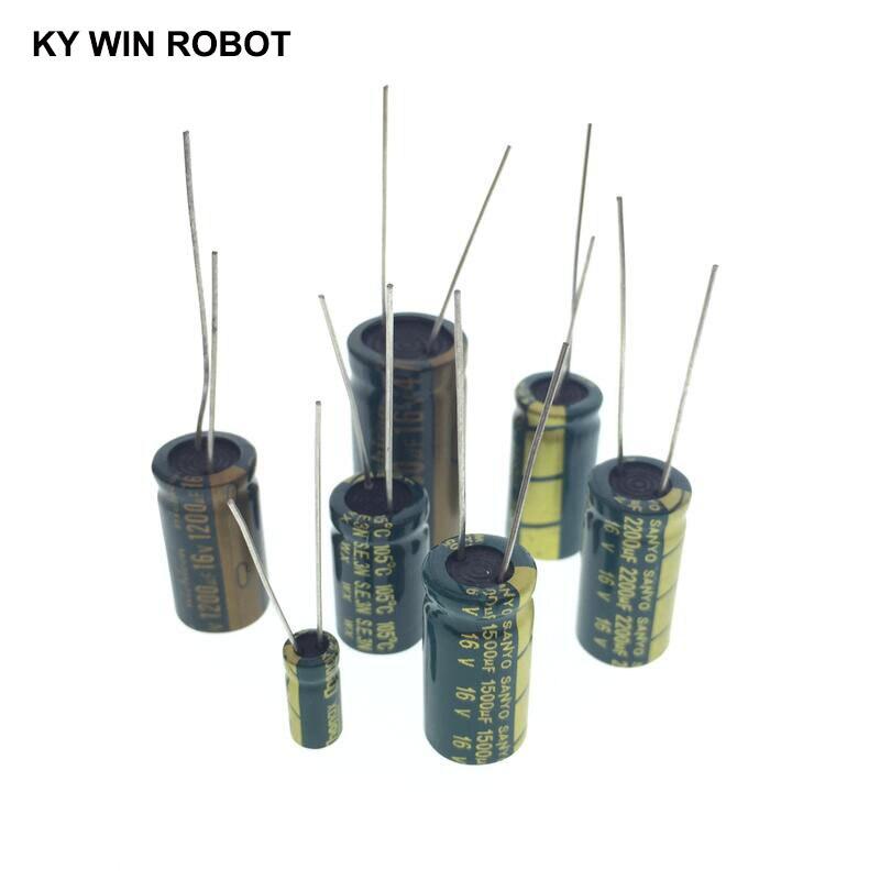 1000UF 6.3V 10V 16V 25V 35V 50V 63V 80V 100V 450V High Frequency Low ESR Aluminum Capacitor 2-20pcs