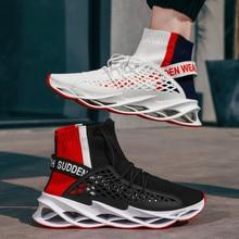 2020 جديد حذاء رجالي كاجوال الرجال الجوارب عدم الانزلاق سكين المد الأحذية تنفس خفيفة الوزن الرجال أحذية رياضية تنفس صافي الأحذية