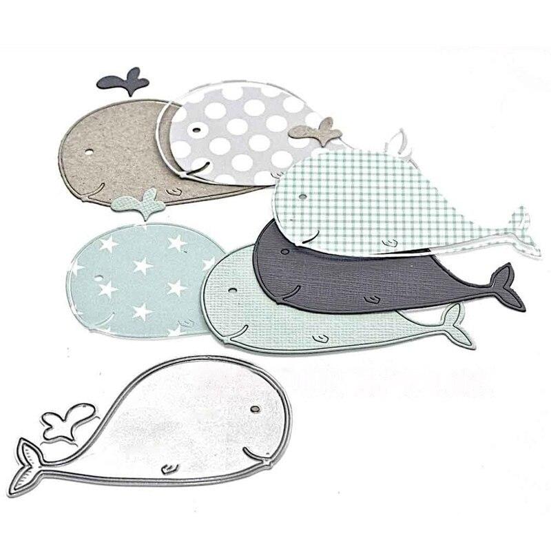 Crazyclown Whale Dies Metal Cutting Dies DIY Scrapbooking Embossing Cuts Paper Stencil Craft Fish Dies