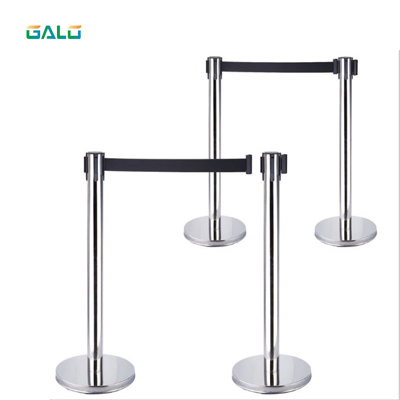 Stainless Steel Warning Line Traffic Queue Barrier Post