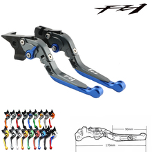 adjustable cnc billet long straight brake clutch levers for bmw f 650 700 800 r s gs gt 2008 2015 2009 2010 2011 2012 2013 2014 For Yamaha FZ1 FAZER 2006 2007 2008 2009 2010 2011 2012 2013 2014 2015 Logo(FZ1) Motorcycle Brake Clutch Levers