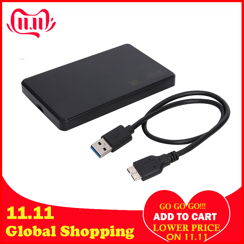 <font><b>2.5</b></font> inch HDD SSD Case <font><b>Sata</b></font> to USB 3.0 2.0 Adapter Free 6 Gbps Box Hard Drive <font><b>Enclosure</b></font> Support 6TB HDD Disk For WIndows Mac OS image