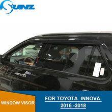 Car Window Deflector Visor For Toyota innova 2016 2017 2018 Black Door visor  2016-2018 car accessories SUNZ