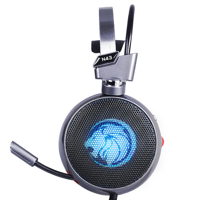 ZOP N43 Stereo Gaming Headset 7.1 Virtual Surround Bass Gaming Earphone Headphone with Mic LED Light for Computer PC Gamer 3