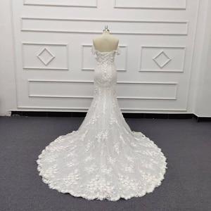 Image 4 - Eslieb 3d цветочное кружевное свадебное платье с жемчугом 2020 Милое Свадебное Платье