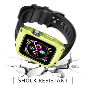 Case+strap For Apple Watch band 44 mm 40mm iWatch band 42mm 38mm Waterproof Silicone bracelet for Apple watch 5 4 3 40 42 44 mm