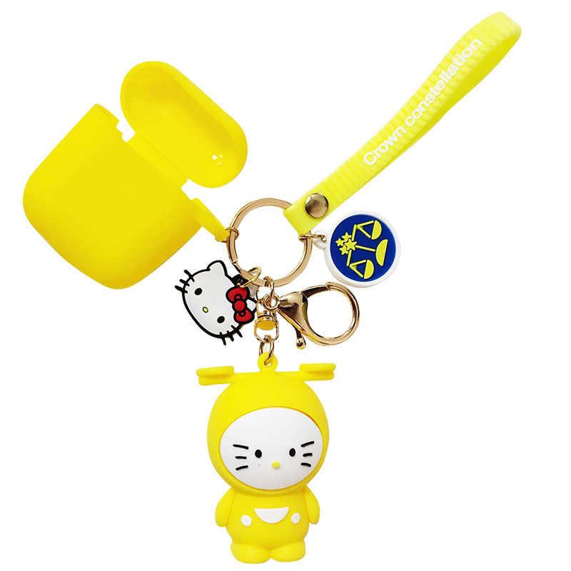 Bonito dos desenhos animados Olá Kitty KT Boneca Do Gato Chaveiros Mulheres Meninas Sacos de Charme chave de cadeia de Acessórios Pingente de Carro Carro Novo anel Chave 2019